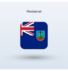 Montserrat flag icon vector