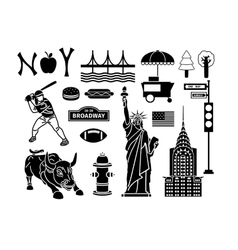 New York icons vector image