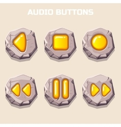 Old stone audio buttons computer icons vector