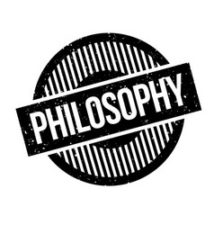 Philosophy rubber stamp vector