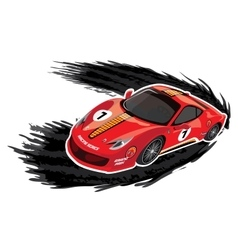 Racing car on a white background vector image