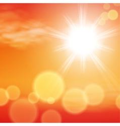 Summer sunset background vector