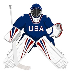 team usa hockey goalie vector image