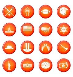 Usa icons set vector