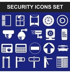 Video surveillance metal and alarm detectors vector