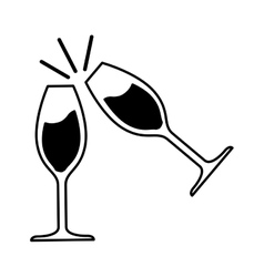 wine glass isolated icon vector image vector image