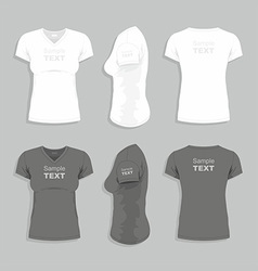 Women t-shirt vector image