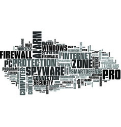 Zonelabs zone alarm pro text word cloud concept vector