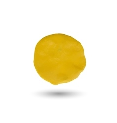 Piece of yellow clay vector