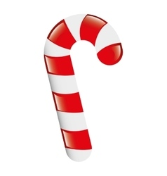 Sweet candy cane isolated icon vector