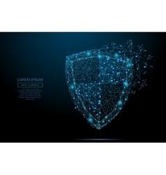 Shield blue vector