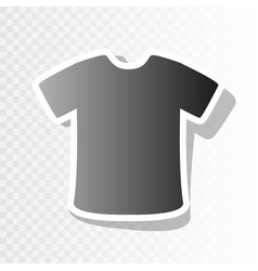 t-shirt sign  new year blackish icon on vector image