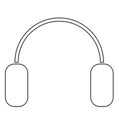 Headphone the black color icon vector