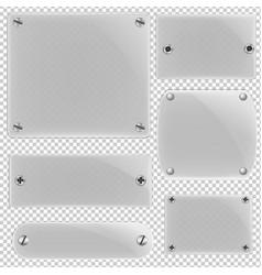 Glass framework set vector