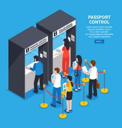 Visa center concept vector