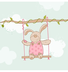 Baby shower card - with baby bunny vector
