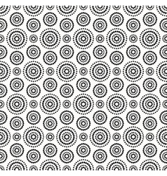 Black dots circles pattern on white background vector