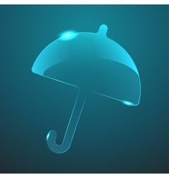 glass umbrella icon Eps10 vector image