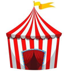 Circus tent in red and white striped vector