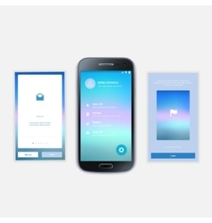Mobile screens user interface kit modern user vector