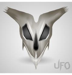 alien head skull vector image