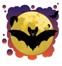 Bats and Moon2 vector image vector image