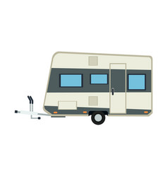 camper trailer vacation travel outdoor image vector image vector image