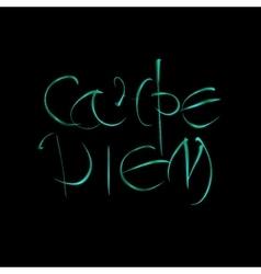 Carpe diem latin translation seize the moment vector