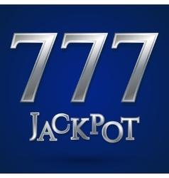 Casino jackpot symbol vector image vector image