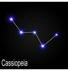 Cassiopeia Constellation with Beautiful Bright vector image vector image