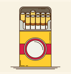 Cigarette flat vector