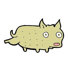 comic cartoon little dog cocking leg vector image vector image