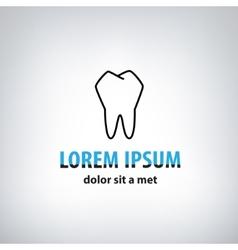 Dental Medicine logo design template vector image