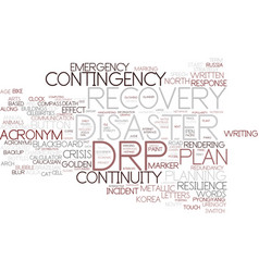 Drp word cloud concept vector