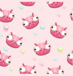 funny childish seamless pattern vector image