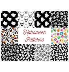 Halloween cartoon seamless pattern backgrounds vector