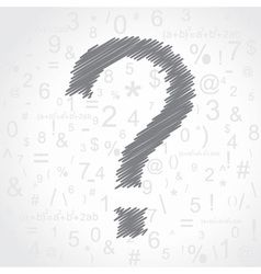 Hand drawn question mark background vector image