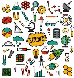 Hand drawn science pack vector