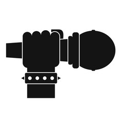 Hand microphone icon simple style vector