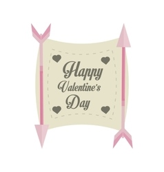 happy valentines day card arrows with banner vector image