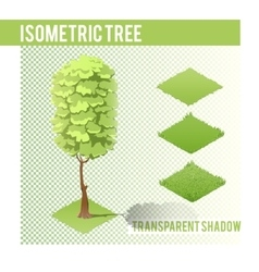 Isometric tree 002 vector