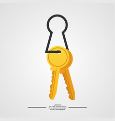 keys on white background vector image vector image