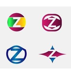 Letter z logo alphabet design element vector