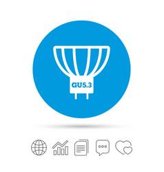Light bulb icon lamp gu53 socket symbol vector