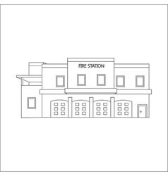 Line of fire station vector