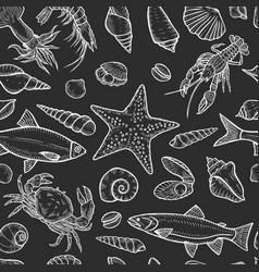 marine seamless background vector image