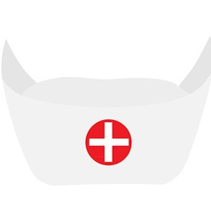 Nurse hat vector image