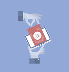 online shop background vector image