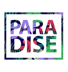 Paradise tropical plant print t-shirt vector