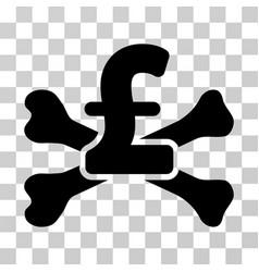 pound mortal debt icon vector image vector image